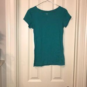 Express Teal Green Short Sleeve Tee Shirt S